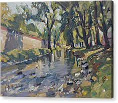 Riverjeker In The Maastricht City Park Acrylic Print by Nop Briex