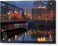 Riverplace Minneapolis Little Europe Acrylic Print by Wayne Moran