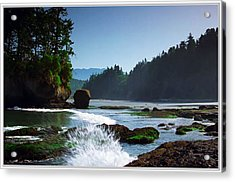 Rivers And Lakes Around Olympic National Park America Acrylic Print