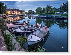 Riverside By Night Acrylic Print