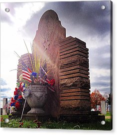 Riverside Cemetery War Memorial Acrylic Print