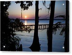 Riverside Sunset Acrylic Print