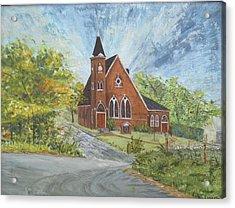 Riverton Church Acrylic Print by Judith Espinoza