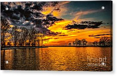 Acrylic Print featuring the photograph Riverview Beach Park Sunset by Nick Zelinsky