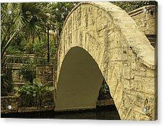Riverwalk Footbridge Acrylic Print by Anne Witmer