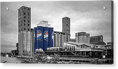 Riverworks Blue Acrylic Print