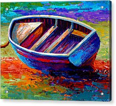 Riviera Boat IIi Acrylic Print by Marion Rose