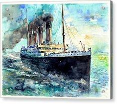 Rms Titanic White Star Line Ship Acrylic Print