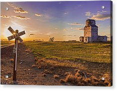 End Of The Day On The Montana Hi Line Acrylic Print