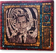 Rod Serling  Acrylic Print by Brent Andrew Doty