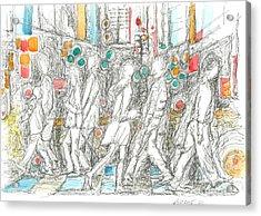 Road Crossing. 6 February, 2015 Acrylic Print by Tatiana Chernyavskaya