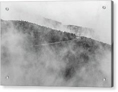 Road In Fog - Blue Ridge Parkway Acrylic Print