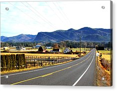 Acrylic Print featuring the photograph Road In The Mountains by Sergey  Nassyrov