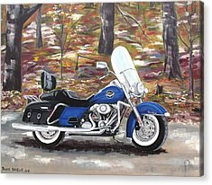 Road King Acrylic Print by Diane Daigle