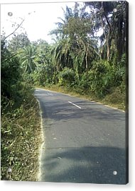 Road Or Life Acrylic Print by Yousuf Khan