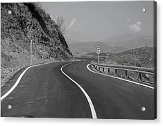 Road Out Acrylic Print by Jez C Self