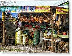 Road Side Store Philippines Acrylic Print by James BO  Insogna