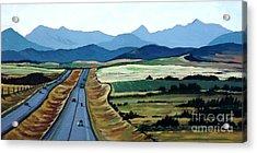 Road To Banff Acrylic Print