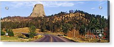 Road To Devils Tower Crossing Belle Fourche River Acrylic Print by Jeremy Woodhouse