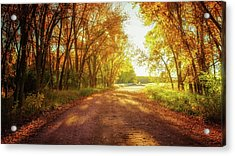 Acrylic Print featuring the photograph Road To Eternity by John De Bord