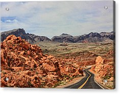 Acrylic Print featuring the photograph Road To Fire by Tammy Espino