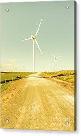 Road To Green Farming Acrylic Print