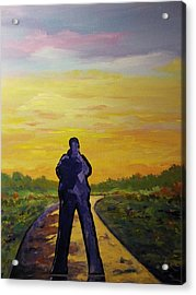 Acrylic Print featuring the painting Road To Heaven by Ray Khalife