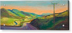 Road To Horse Tooth Acrylic Print by Athena  Mantle