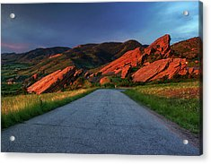 Acrylic Print featuring the photograph Road To Light by John De Bord
