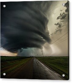 Acrylic Print featuring the photograph Road To Mesocyclone by Aaron J Groen