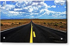Road To Meteor Crater Acrylic Print