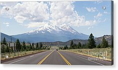 Acrylic Print featuring the photograph Road To Mt Shasta California Dsc5048 Panorama by Wingsdomain Art and Photography