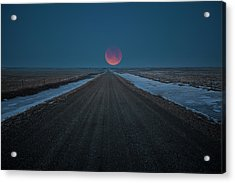 Road To Nowhere - Blood Moon  Acrylic Print