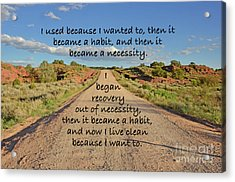 Road To Recovery Acrylic Print