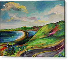 Road To Stinson Acrylic Print by Danielle Hacker