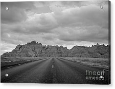 Road To The Badlands  Bq Acrylic Print