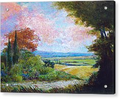 Road To The Fields Acrylic Print by Dale  Witherow