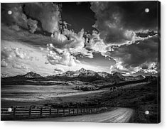 Acrylic Print featuring the photograph Road To The Mountains by Andrew Soundarajan