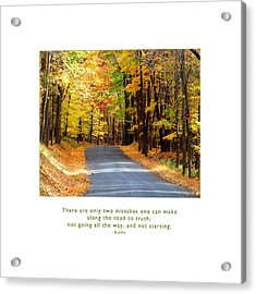 Acrylic Print featuring the photograph Road To Truth by Kristen Fox