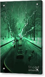 Road Trip Effects  Acrylic Print by Cathy  Beharriell