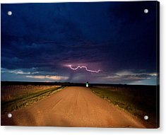 Road Under The Storm Acrylic Print