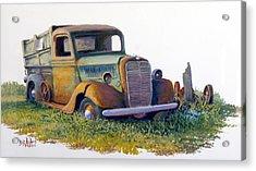 Road Warrior Retired Acrylic Print by Bob  Adams