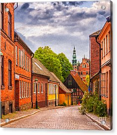 Roads Of Lund Digital Painting Acrylic Print by Antony McAulay