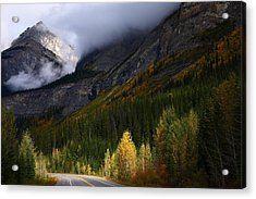 Roadside Landscape At Banff National Park Acrylic Print by Jetson Nguyen