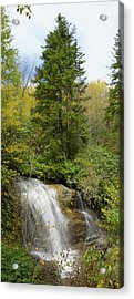 Acrylic Print featuring the photograph Roadside Waterfall In North Carolina by Mike McGlothlen