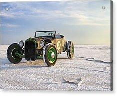 Roadster On The Salt Flats 2012 Acrylic Print