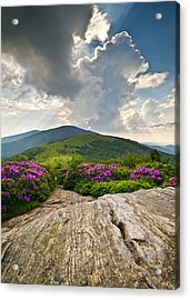 Roan Mountain Rays- Blue Ridge Mountains Landscape Wnc Acrylic Print