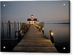 Roanoke Marshes Lighthouse Acrylic Print