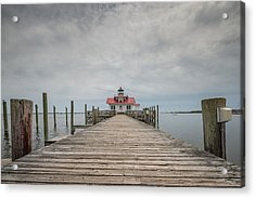 Outer Banks North Carolina Roanoke Marshes Lighthouse Acrylic Print by Rick Dunnuck
