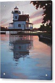 Roanoke River Light Acrylic Print by Todd Baxter